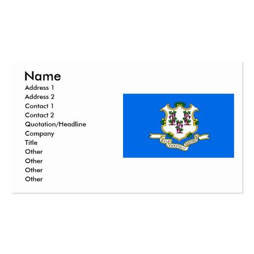 Bandera de Connecticut Tarjetas De Visita