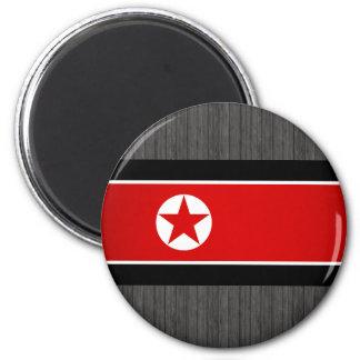 Bandera de Corea del Norte del monocromo Imán De Frigorífico