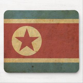 Bandera de Corea del Norte del vintage Alfombrilla De Ratón
