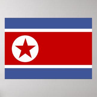 Bandera de Corea del Norte Impresiones