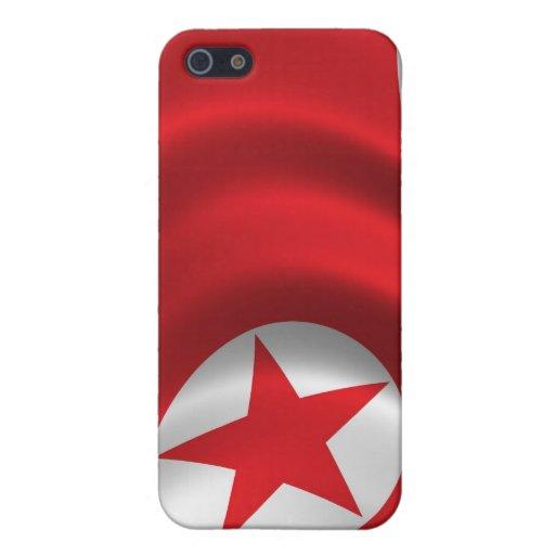 Bandera de Corea del Norte para el iPhone 4 iPhone 5 Carcasas