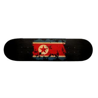 """Bandera de Corea del Norte Patineta 7 3/8"""""""