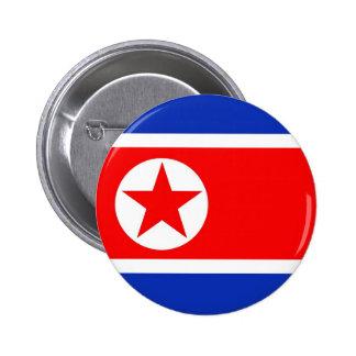 Bandera de Corea del Norte Pin Redondo 5 Cm