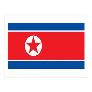 Bandera de Corea del Norte Postales