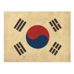 Bandera de Corea del vintage Postal