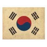 Bandera de Corea del vintage Postales