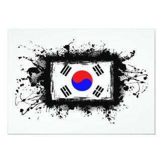 """Bandera de Corea Invitación 5"""" X 7"""""""