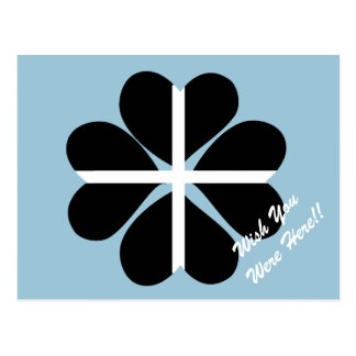 Bandera de Cornualles del trébol afortunado de Postales