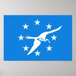 Bandera de Corpus Christi Póster
