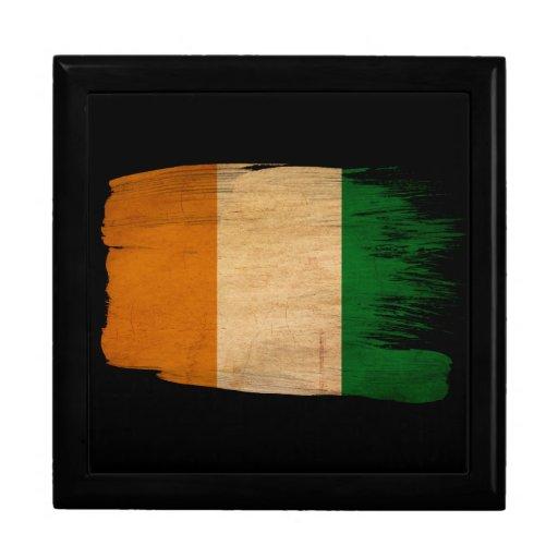 Bandera de Costa de Marfil Joyero Cuadrado Grande