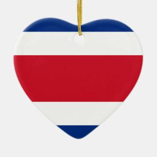 Bandera de Costa Rica Adorno Navideño De Cerámica En Forma De Corazón
