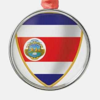 Bandera de Costa Rica Adorno Navideño Redondo De Metal