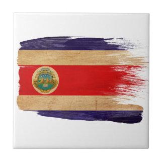Bandera de Costa Rica Azulejo Cuadrado Pequeño