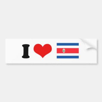Bandera de Costa Rica Pegatina De Parachoque