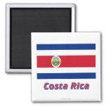Bandera de Costa Rica con nombre Iman Para Frigorífico