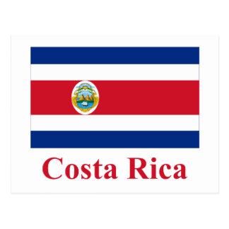 Bandera de Costa Rica con nombre Postal