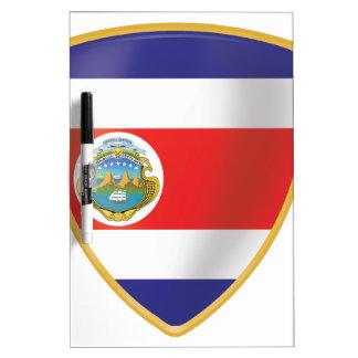 Bandera de Costa Rica Dry Erase White Board
