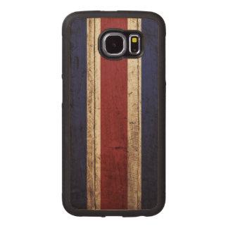 Bandera de Costa Rica en grano de madera viejo Funda De Madera Para Samsung Galaxy S6