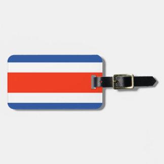 Bandera de Costa Rica Etiquetas Para Equipaje