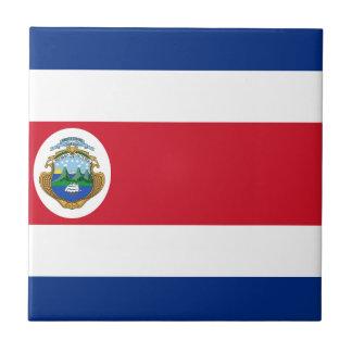 Bandera de Costa Rica - Flag of Costa Rica Ceramic Tile