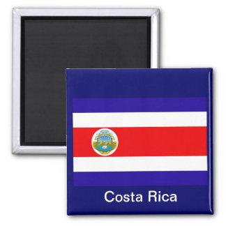 Bandera de Costa Rica Imán Cuadrado
