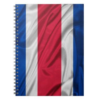 Bandera de Costa Rica Libro De Apuntes Con Espiral