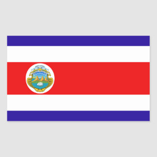 Bandera de Costa Rica Rectangular Pegatinas