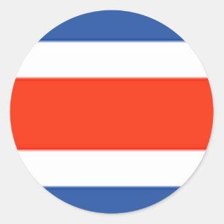 Bandera de Costa Rica Pegatina Redonda