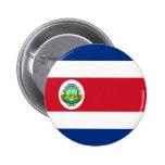 Bandera de Costa Rica Pin Redondo 5 Cm