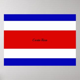 Bandera de Costa Rica Póster