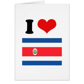 Bandera de Costa Rica Tarjetón