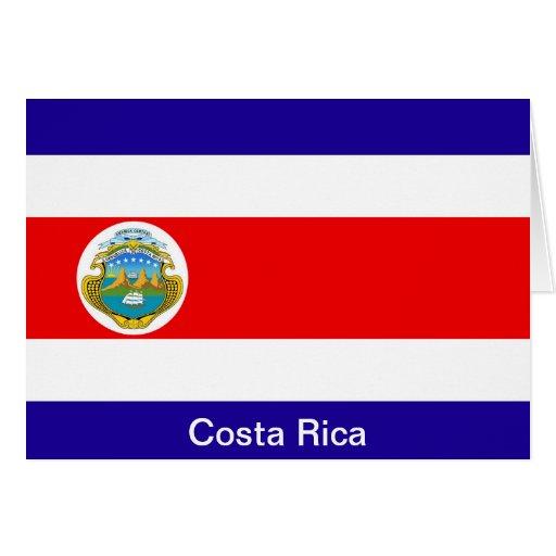 Bandera de Costa Rica Tarjeta De Felicitación