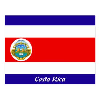 Bandera de Costa Rica Tarjetas Postales