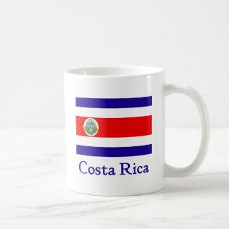 Bandera de Costa Rica Taza Básica Blanca