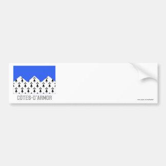 Bandera de Côtes-d Armor con nombre Etiqueta De Parachoque