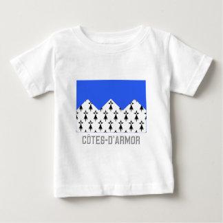 Bandera de Côtes-d'Armor con nombre T-shirts
