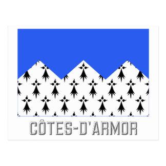 Bandera de Côtes-d'Armor con nombre Postal