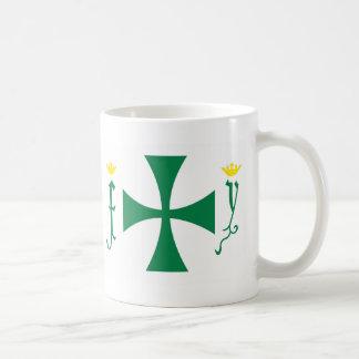 Bandera de Cristóbal Colón Tazas De Café