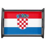 Bandera de Croacia Bandeja