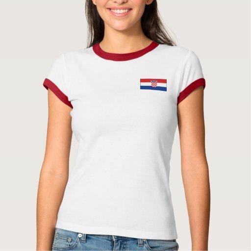 Bandera de Croacia + Camiseta del mapa Playeras