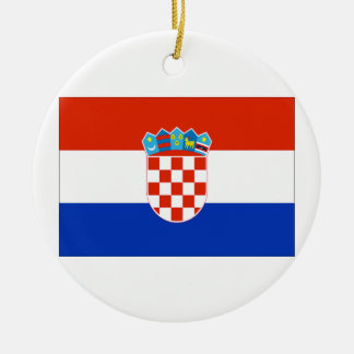 Bandera de Croacia Ornamento Para Arbol De Navidad