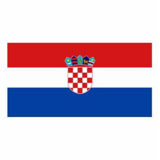 Bandera de Croacia Fotoescultura Vertical