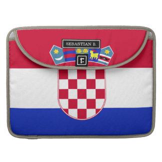 Bandera de Croacia Fundas Para Macbooks
