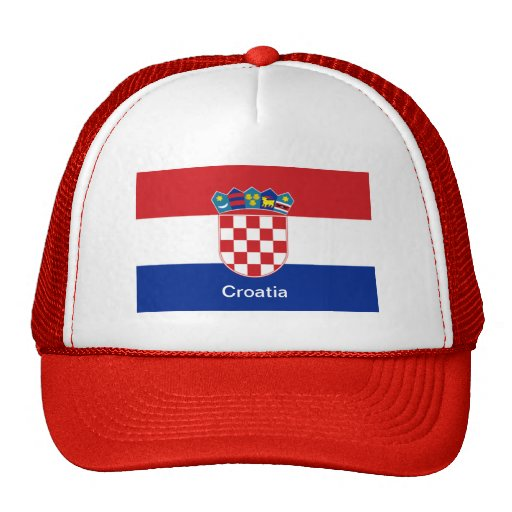 Bandera de Croacia Gorras De Camionero