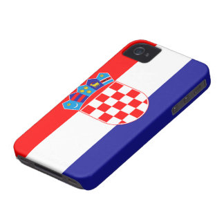 Bandera de Croacia iPhone 4 Case-Mate Carcasas