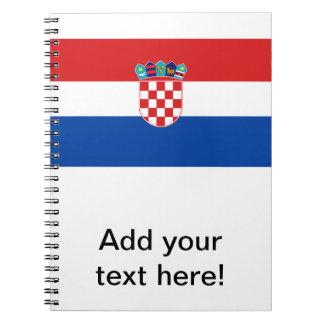 Bandera de Croacia Libro De Apuntes