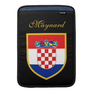 Bandera de Croacia modificada para requisitos Fundas Macbook Air