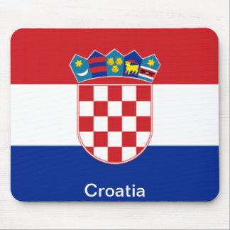 Bandera de Croacia Mousepads