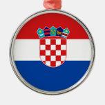 Bandera de Croacia Ornamento De Navidad