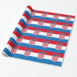 Bandera de Croacia Papel De Regalo